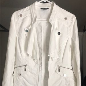 White House Black Market White Jacket